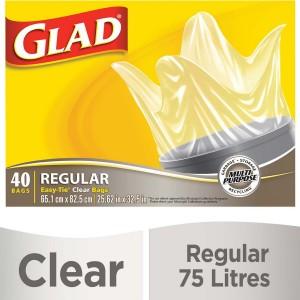 GLAD EASY TIECLEAR RGB  40CTX6