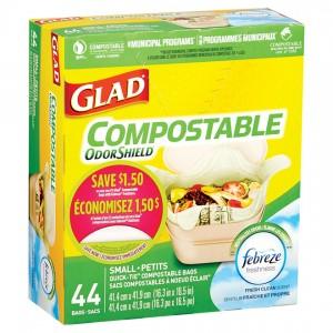 GLAD SMALL COMPOSTABLE 12 per 44CT