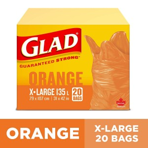 GLAD BIG ORANGE BAGS  20 CTX6
