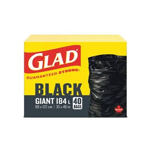 GLAD GIANT GARBAGE BAGS  40 CTX4