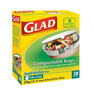 GLAD COMPOSTABLE BAGS SMALL  20 CTX12