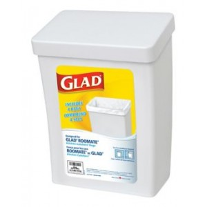 GLAD ROOMMATE CONTAINER WHITE  1 CTX2