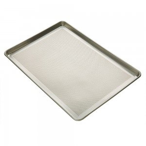 Full Size Sheet Pan, Perforated Bottom, Aluminum, 18 x 26 x 1/8 in