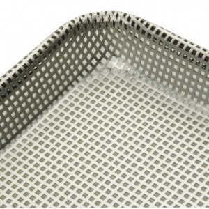 Half Size Sheet Pan, Square Perforations, Aluminum, 13 x 18 x 3/32 in