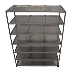 Drying Rack, 20 Trays, Mobile, 7 Shelves, Stainless Steel 304