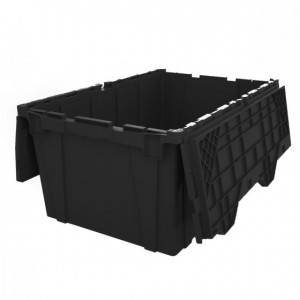 "Buckhorn Attached Lid Stack & Nest Container 21.8"" x 15.2"" x 12.5"""