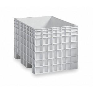 "Bukhorn Solid Side, Bulk Container, White, 28""H x 42""L x 29""W, 1EA"