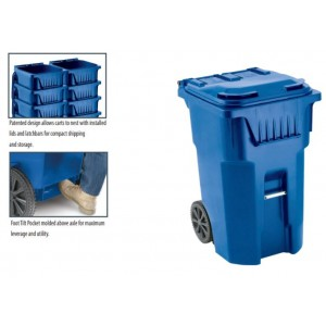 95 Gallon Recycling Container, Blue
