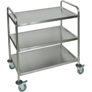 """Stainless Steel Shelf Cart No. of Shelves: 3 Overall Width: 21"""" Overall Height: 37"""" Overall Depth: 23-1/2"""""""