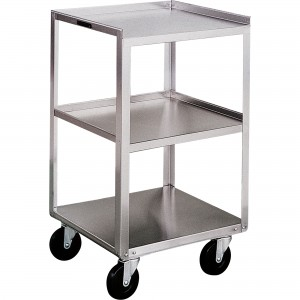 "Stainless Steel Equipment Stands No. of Shelves: 3 Overall Width: 16-3/4"" Overall Height: 30-1/8"" Overall Depth: 18-3/4"""