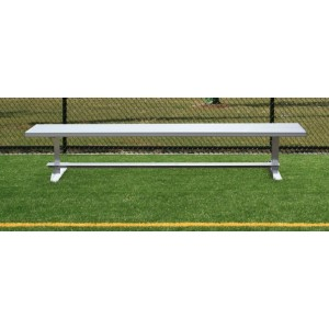 Aluminum Bench, Backless, 6' Aluminum Seat and Frame