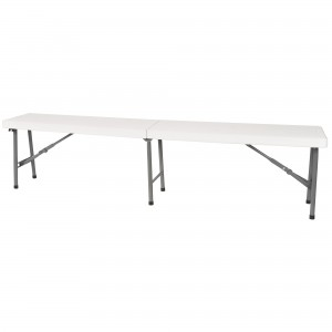 """Polyethylene Folding Benches Overall Height: 17"""" Overall Width: 12"""" Overall Length: 72"""""""