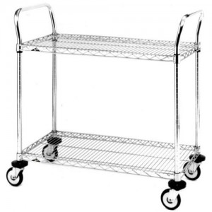"""Stainless Steel Standard-Duty Utility Carts 24"""" x 24"""" x 39"""""""
