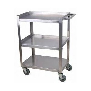 """Stainless Steel Bussing Carts, 3 tier, 16""""X24"""""""