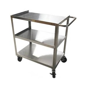 """Stainless Steel Bussing Carts, 3 tier, 18"""" X 27"""""""