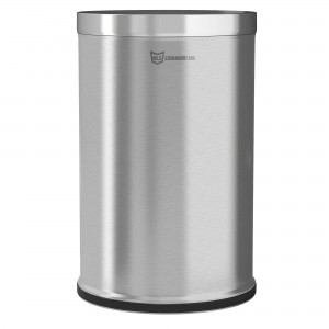 26 Gallon Stainless Steel Round Open Top Trash Can
