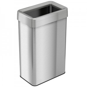 21 Gallon Stainless Steel Rectangular Open Top Trash Can