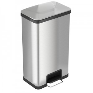 18 Gallon Stainless Steel Step Trash Can with AirStep Technology
