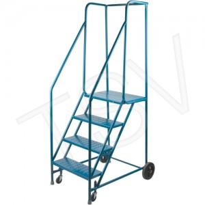 """Rolling Step Ladders No. of Steps: 4 Platform Height: 37"""" Platform Depth: 16"""" Step Width: 22"""""""