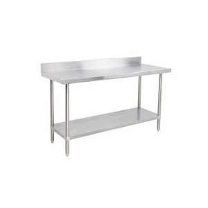 "Stainless Steel Tables, Backdrop, 96"" x 30"" x 35"""