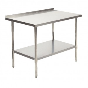 "Worktable Stainless Steel with Backdrop, 30"" x 18"" 304SS"