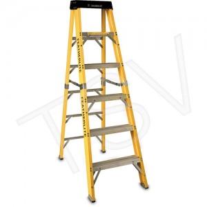 "6' Step Ladder Fibreglass, 300lbs, 23"" Base, 23lbs"