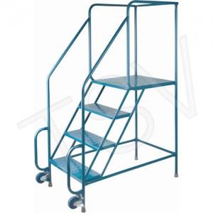 """Tilt-N-Roll Ladders Frame Material: Steel No. of Steps: 4 Platform Height: 38"""" Platform Depth: 24"""""""