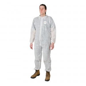 Polypropylene Coverall, Hooded, Elastic Ankles, Wrists, 50 Per Case