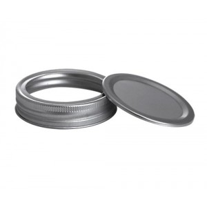 Glass Mason Jar Lid, Stardard, Lid w/ Band 2Pc  12/Box