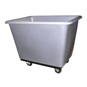 """Box Truck, Polyethylene, 40x30x33"""", 800Cap,Gray"""