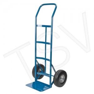 "Flat Fee Wheel Hand Truck, Plate 14'X9"", 600lbs cap., Blue, Steel, 48""x22"""