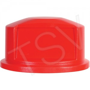 Round Brute Dome Lid, Red,