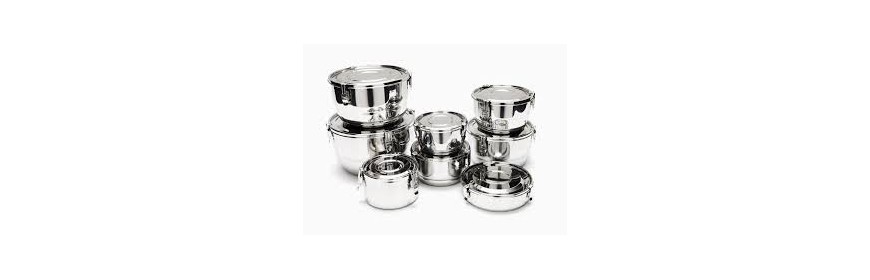 Clamp Airtight Stainless Steel Containers